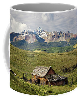 Old Barn And Wilson Peak Horizontal Coffee Mug