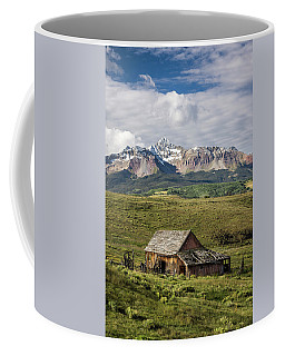 Old Barn And Wilson Peak Vertical Coffee Mug