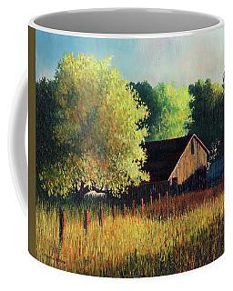 Old Barn At Sunrise Coffee Mug