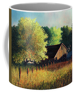 Old Barn At Sunrise Coffee Mug
