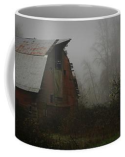 Old Barn In Fog Coffee Mug