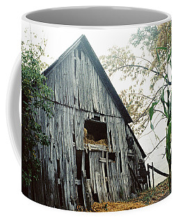 Old Barn In The Morning Mist Coffee Mug