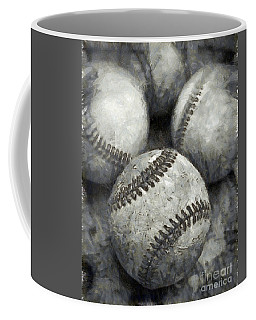 Old Baseballs Pencil Coffee Mug