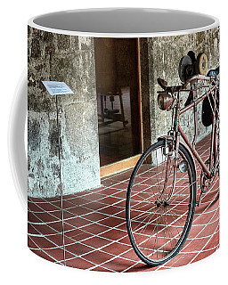 Coffee Mug featuring the photograph Old Bicycle In The Monastery Of Santo Estevo De Ribas Del Sil by Eduardo Jose Accorinti