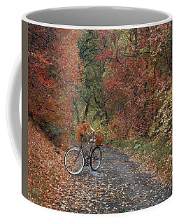 Coffee Mug featuring the photograph Old Bike In Autumn by Leland D Howard