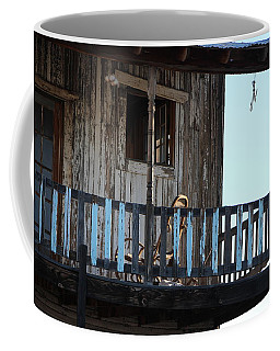 Old Blue Balcony Coffee Mug