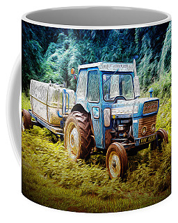Old Blue Ford Tractor Coffee Mug