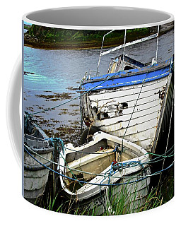 Coffee Mug featuring the photograph Old Boats by Stephanie Moore
