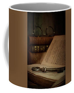 Old Book With Key Coffee Mug