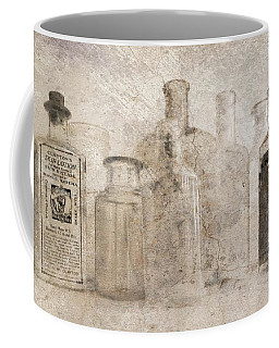 Old Bottles With Texture Coffee Mug