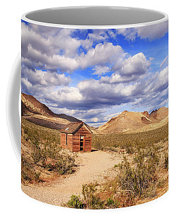 Coffee Mug featuring the photograph Old Cabin At Rhyolite by James Eddy