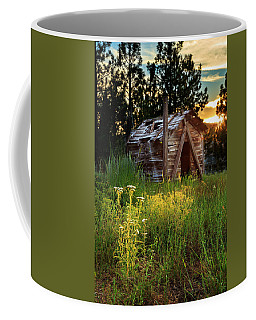 Old Cabin At Sunset Coffee Mug by James Eddy