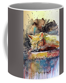 Old Cat Resting Coffee Mug by Kovacs Anna Brigitta