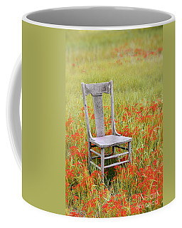 Old Chair In Wildflowers Coffee Mug