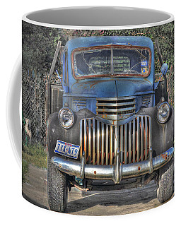 Coffee Mug featuring the photograph Old Chevy Truck by Savannah Gibbs