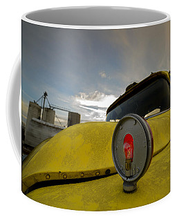 Old Chevy Truck With Grain Elevators In The Background Coffee Mug