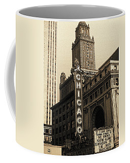 Old Chicago Theater - Vintage Art Coffee Mug