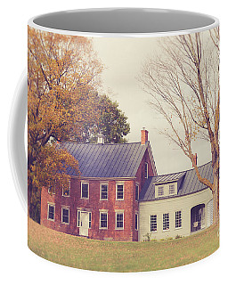 Old Colonial Farm House Vermont Coffee Mug by Edward Fielding