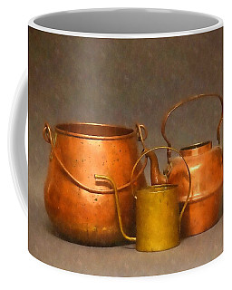 Old Copper And Brass Coffee Mug