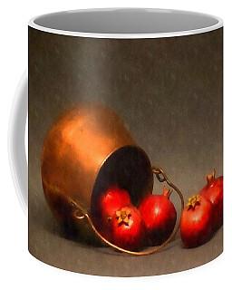 Old Copper Pot With Pomegranates Coffee Mug