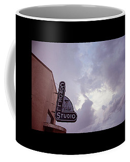 Coffee Mug featuring the photograph Old Cordell Photo Studio by Toni Hopper