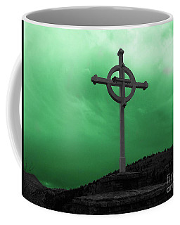 Old Cross - Green Sky Coffee Mug