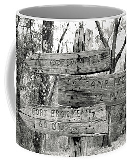 Old Directional Signs At Fort Cooper  Coffee Mug by Debra Forand