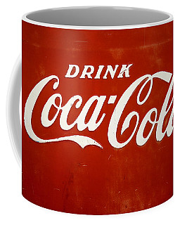 Coffee Mug featuring the photograph Old Drink Coca-cola Sign by Marilyn Hunt