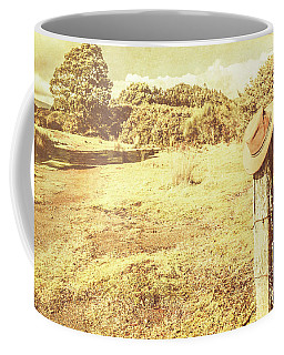 Old Farming Landscape Coffee Mug
