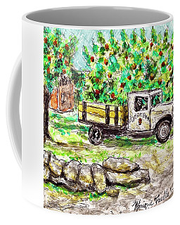 Coffee Mug featuring the painting Old Farming Truck by Monique Faella
