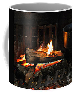 Old Fashioned Fireplace Coffee Mug