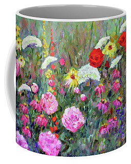 Coffee Mug featuring the painting Old Fashioned Garden by Claire Bull