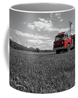 Old Fire Engine Deerfield Ma Coffee Mug