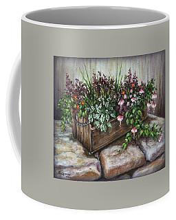 Old Flower Box Coffee Mug by Kim Lockman