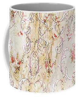 Old Flowered Wallpaper Coffee Mug