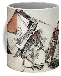 Coffee Mug featuring the digital art Old Forgotten Letters by Pennie McCracken