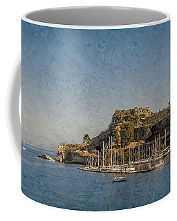 Coffee Mug featuring the photograph Corfu, Greece - Old Fortress North by Mark Forte