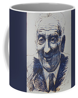 Coffee Mug featuring the drawing Old Fred. by Mike Jeffries