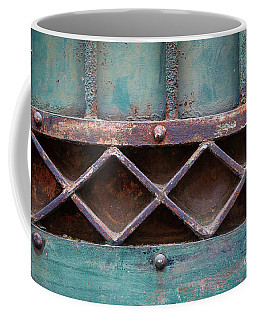 Coffee Mug featuring the photograph Old Gate Geometric Detail by Elena Elisseeva