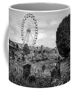 Old Glenarm Cemetery And Big Wheel Bw Coffee Mug by RicardMN Photography
