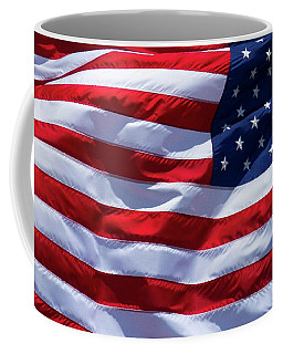 Coffee Mug featuring the photograph Stitches Old Glory American Flag Art by Reid Callaway