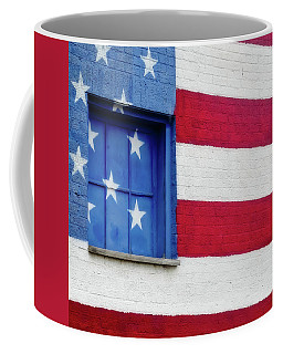 Old Glory, American Flag Mural, Street Art Coffee Mug