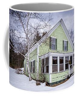 Old Green And White New Englander Home Coffee Mug