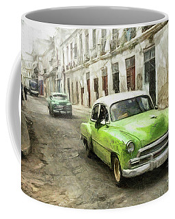 Old Green Car Coffee Mug