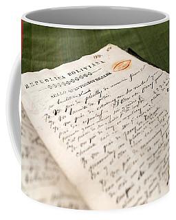 Old Handwritten Book Coffee Mug
