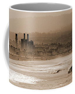 Old Hermosa Beach Coffee Mug by Ed Clark