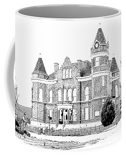 Coffee Mug featuring the digital art Old Hickman Ky Court House Digital Drawing  by Bonnie Willis