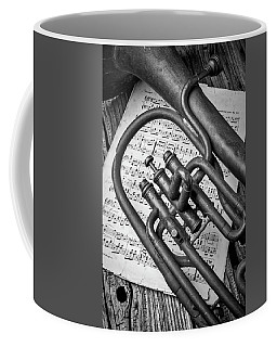 Old Horn And Sheet Music Coffee Mug