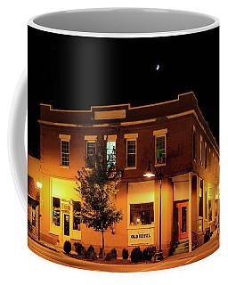 Old Hotel Moonlight Coffee Mug by Dale R Carlson