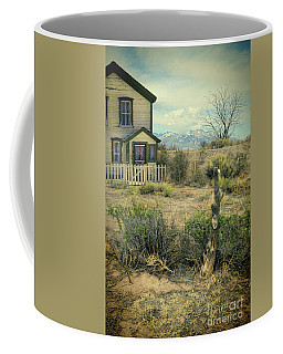 Coffee Mug featuring the photograph Old House Near Mountians by Jill Battaglia